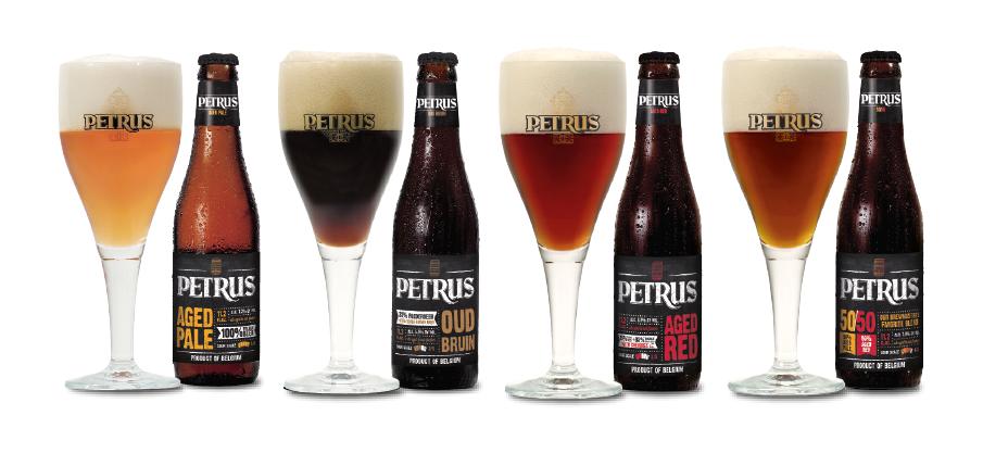De Petrus Aged Pale, Oud Bruin, Aged Red en 50/50